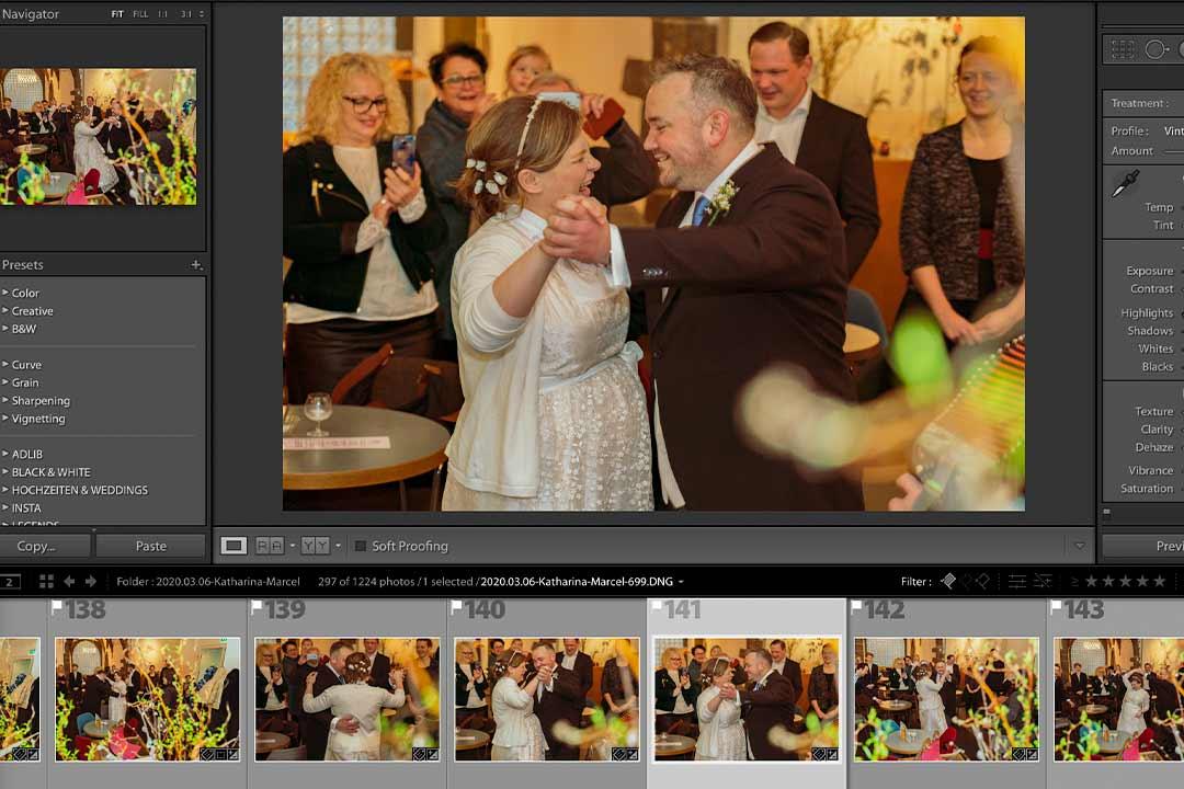 Postproduktionsstrategie für Hochzeitsfotos mit Lightroom