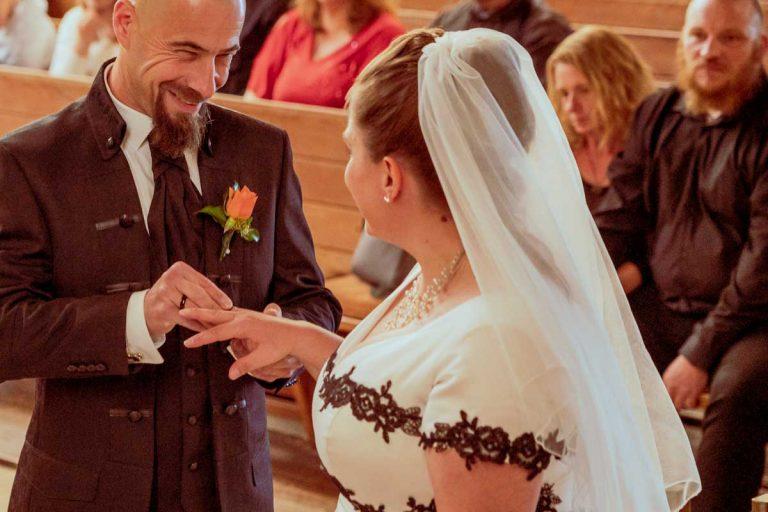Hochzeitsfotografie Kirchliche Trauung in Hemsbach