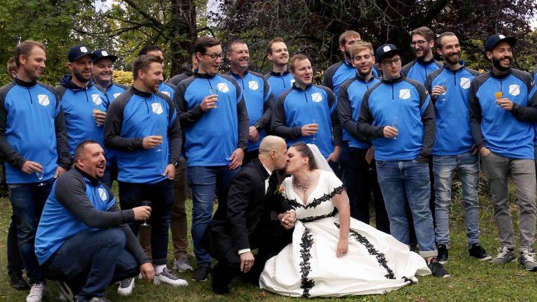 Hochzeitsvideo Sektempfang in Hemsbach